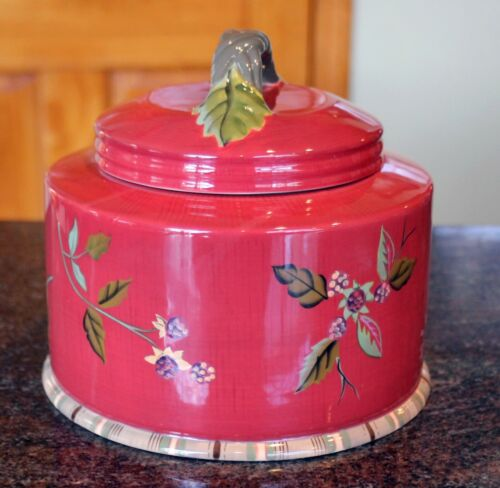 Tracy Porter Octavia Hill Delicious Ceramic Cookie Jar Canister Rare and HTF New
