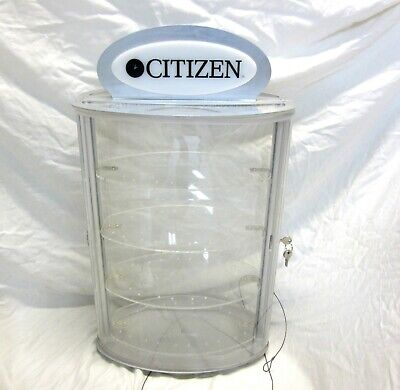 Citizen Clear Acrylic Watch Retail Store Display Case