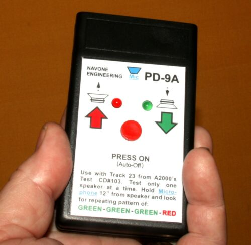PD-9A Polarity Checker Phase Detector Self-Test Auto-Off Audio Speaker Testing