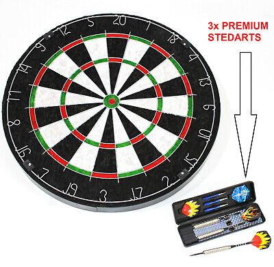 STEELDARTSCHEIBE 45 cm Sisal extra stark 4 cm Dartscheibe mit 3 darts ~yx6 2031+