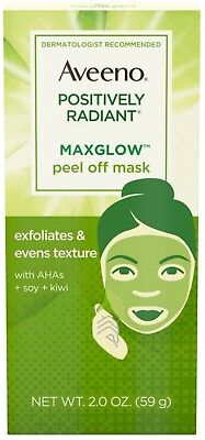 Aveeno MaxGlow Peel Off Exfoliating Face Mask, Kiwi Complex