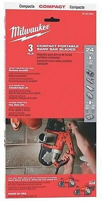 Milwaukee 48-39-0539 35-38 In. 24 Tpi. Compact Band Saw Blade 3 Pk - In Stock