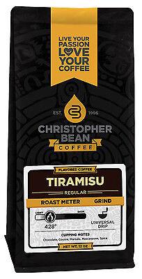 Christopher Bean Coffee TIRAMISU Flavored Coffee 1-12-Oz Bag