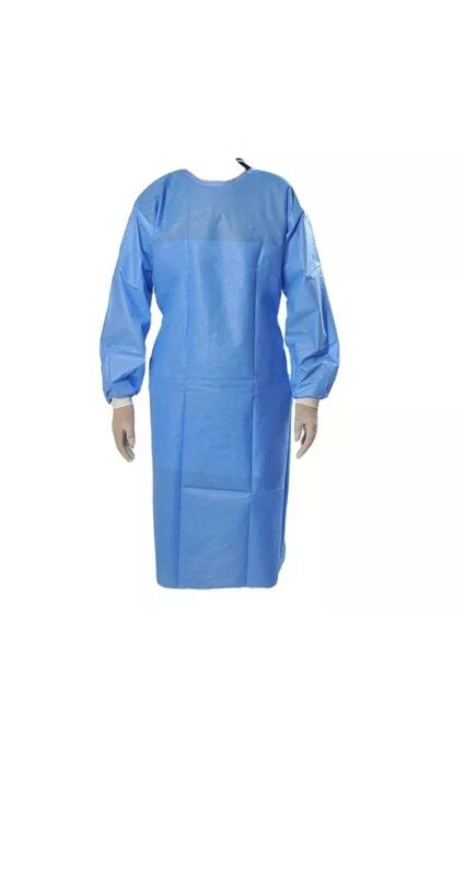 Disposable Surgical Gowns Medical Protective Clothing Elastic Cuff ! 10 Pck !