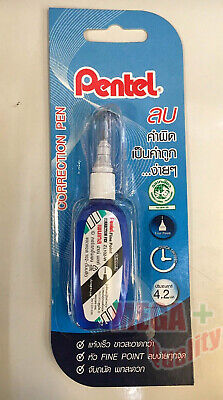 Pentel Fluid Correction Pen Precision Quick Dry White Out Paper Zl102-w 4.2 Ml