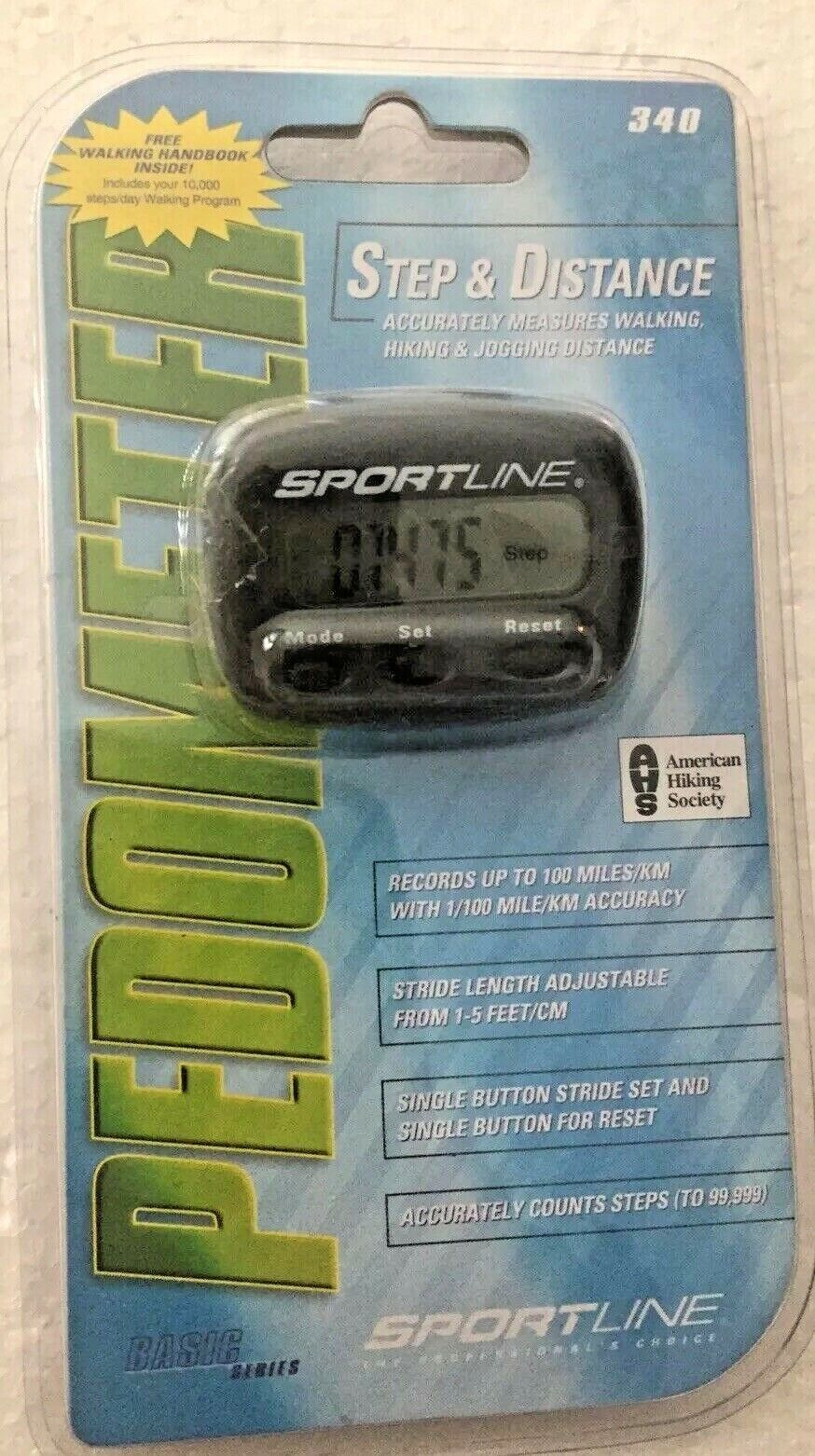 Sportline 340 Multifunction Pedometer - Step and Distance Wa