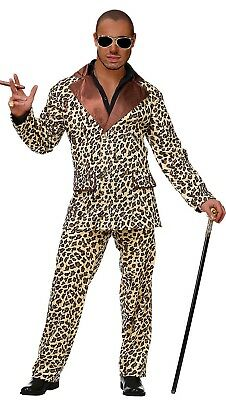 ANT 85851 Hustler Leo Anzug Disco Leopard Animal Karneval Herren Kostüm - Leopard Anzug Kostüm