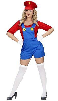 Super Klempner Kristy Kostüm NEU - Damen Karneval Fasching Verkleidung Kostüm (Neu Karneval Kostüme)