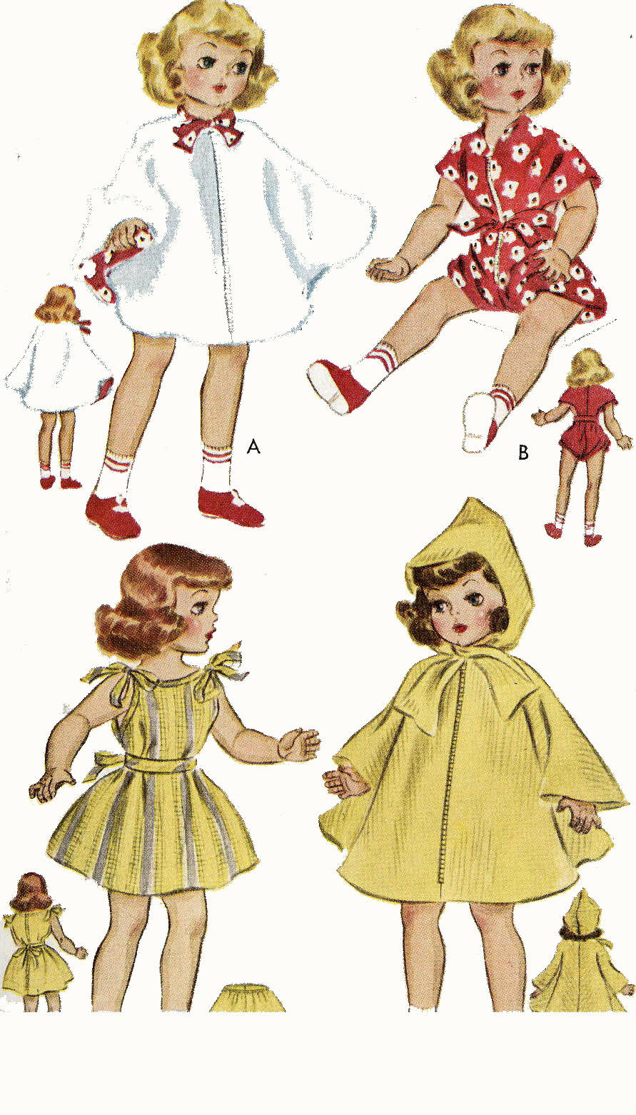 21 inch Toni Walker doll Sweet Sue by Ideal 1706 Vintage Doll Clothing PATTERN