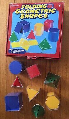 Learning Resources Folding Geometric Shapes 16 pc MATH Education homeschool SET ()