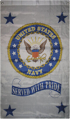 3x5 US Navy Seal Crest Served with Pride Flag 3'x5' 5'x3' ve