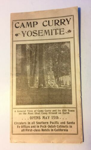 1908 Early Camp Curry Yosemite Pamphlet Original