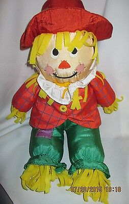 Parachute Plush Scarecrow, 16 inches tall, Gibson Greetings, 1996