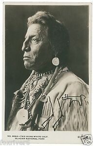Blackfoot-Chief-Two-Guns-White-Calf-Signed-Photograph-Native-American-Indian