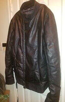 NWT Scarstitch Incarnation Down Lambskin Leather Jacket Parka Bomber Size XL
