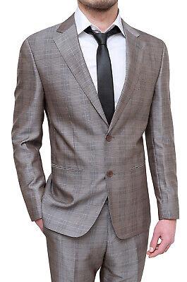50b4ddac89 Elegante abito uomo Diamond sartoriale marrone grigio quadri completo  cerimonia