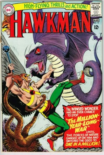 Hawkman #12 (1964) - 5.0 VG/FN *Great Monster Cover*