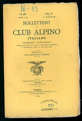 BOLLETTINO DEL CLUB ALPINO ITALIANO N. 43 VOL. XIV 3° TRIMESTRE 1880 MONTAGNA