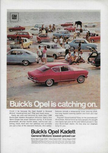1967 Buick Opel Kadett Sport Coupe Sedan Wagon Beach Auto Car Original Print Ad