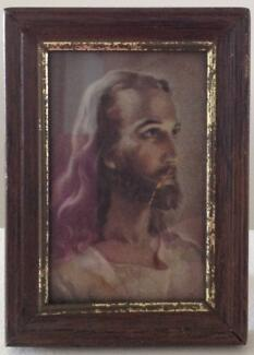 Framed picture of Jesus Christ with stand for table/desk top Bonython Tuggeranong Preview