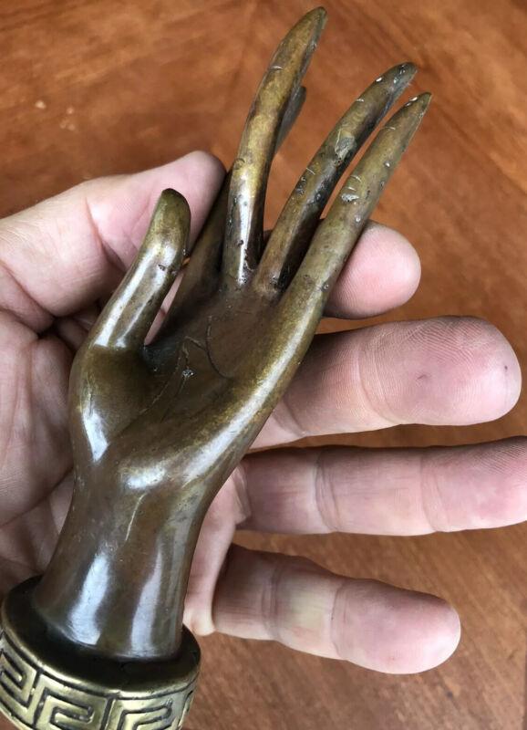 Bronze Goddess Princess Hand Statue