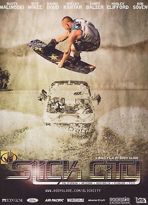 Slick City DVD Wakeboard Body Glove Video Wakeboarding, used for sale  South Yarmouth