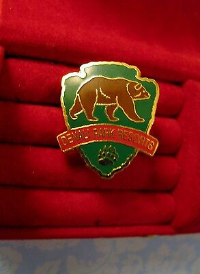 Vintage Denali Park Resort Alaska Souvenir Travel  Pin Lapel  Bear Track