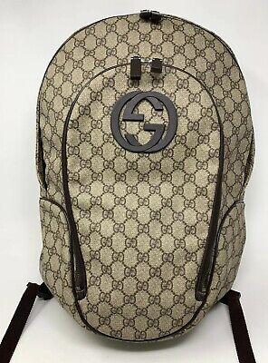 Gucci GG Interlocking Canvas Backpack 223705
