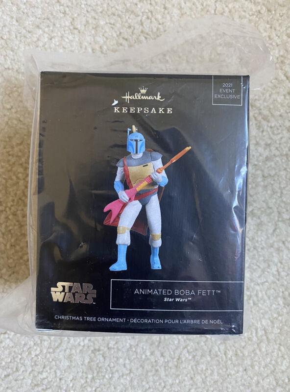 NEW Star Wars Animated Boba Fett Ornament Hallmark PopMinded 2021 SDCC Exclusive