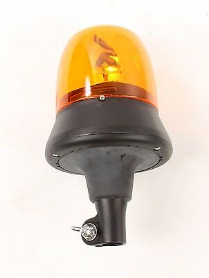 New 35-1003-0000 Cobo Rotating Beacon Lamp Pole Mount 12v Amber