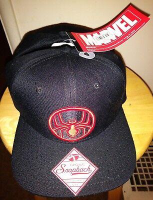 Black Spiderman Hat (Marvel Cap Spiderman Hat Comics Original Snapback Bioworld Black Widow Adult)