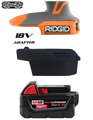 Milwaukee M18 Battery to RIDGID Skin Adapter Trim Router Bra