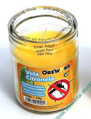Vela con aceite de citronela que repele los mosquitos y otros insectos 251002 BA segunda mano  Embacar hacia Mexico