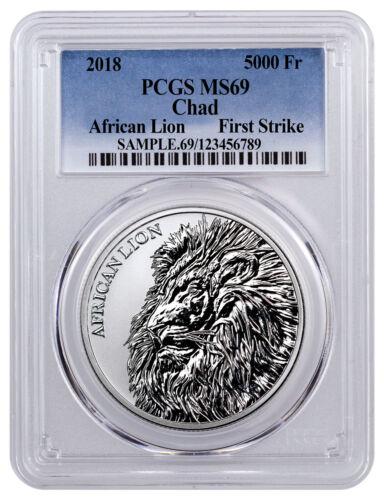 2018 Republic of Chad African Lion 1 oz Silver PCGS MS69 FS SKU51655