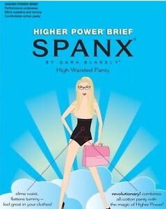 NEW Spanx Higher Power High Waisted Power Panty BRIEF SIZE A BLACK