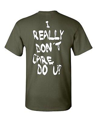 I Really Dont Care Do You  Melania Trump Printed On Back Mens Tee Shirt 1848