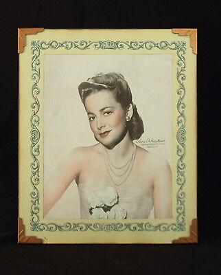 Vintage '30s OLIVIA DE HAVILLAND Warner Brothers Studio Publicity Photo Print