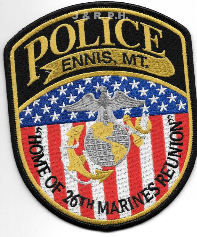 "Ennis, Montana  ""26th Marine Union"" (4.5"" x 5.5"") shoulder police patch (fire)"
