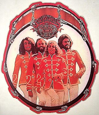 Vintage 1978 Bee Gees Sgt Pepper's Lonely Hearts Club Band Iron On Transfer RARE