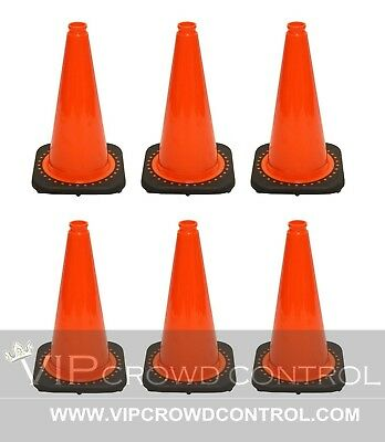 Jbc Safety Plastic Revolution Series Traffic Cone 6 Pcs Set 18 Ht Rs45015c