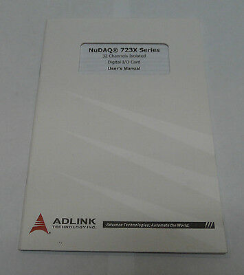 AdLink NuDAQ 723X Series Digital I/O Card User's Manual, 50-11103-2040