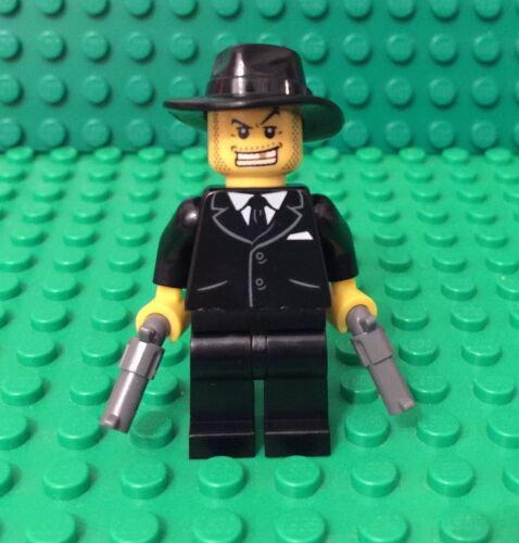 Lego New Mafia Man / Mob Boss Criminal Mini Figure W/ Black