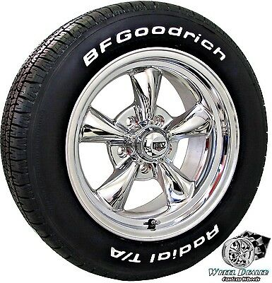 15x6-15x7 POLISHED NEW REV CLASSIC WHEELS TIRES FORD MUSTANG 1965 1966 1967 1968
