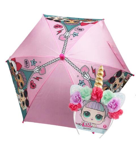 kids umbrella with clamshell handle w unicorn