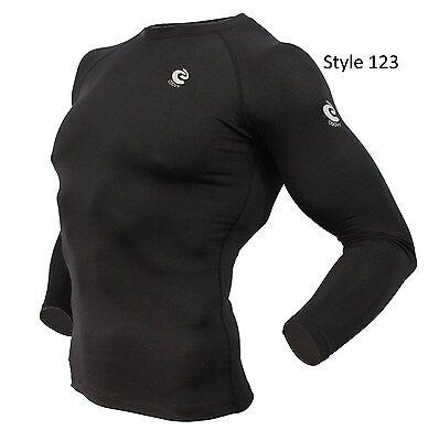 123 Solid Black Thermal Winter Long Sleeve
