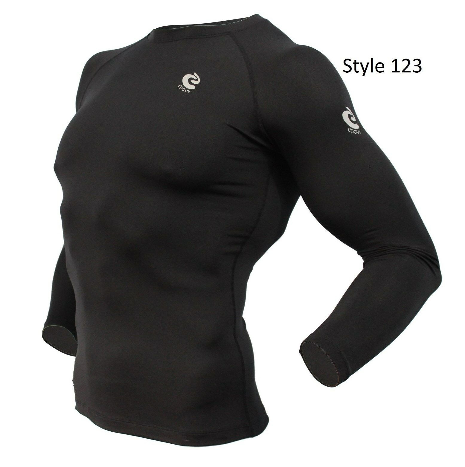 123 Solid Black Thermal Winter Long Sleeve