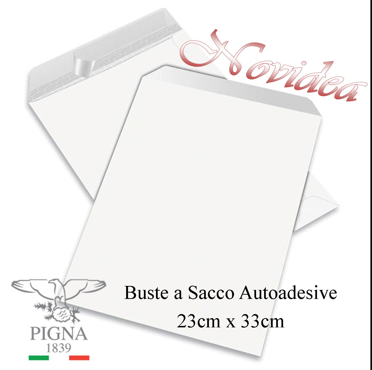 Buste a Sacco Commerciali 23x33 230x330 Bianche Pigna 80Gr Autoadesive