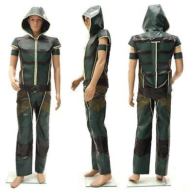 Smallville Justice League Green Arrow Hoodie Cosplay Kostüm - Green Arrow Kostüm