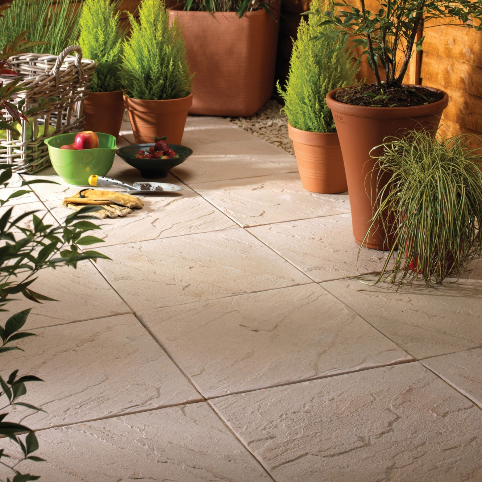 Bradstone 600x600 Peak Riven Slabs in Light Grey Discounted Pack 20 Collected
