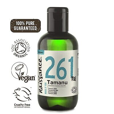 Naissance Tamanu Oil 100ml cold pressed certified organic 100% pure for skincare